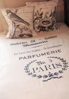 Duvet Cover Full/Queen and Shams French Perfume by JolieMarche, $175.00