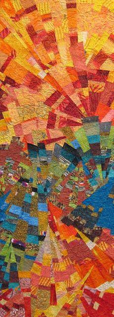 "julie schluter sew slash sew quilts""Sun Kissed San Bernardino Mountains""  http://fiberdose.blogspot.co.nz/p/sewn-slashed-and-sewn-quilts.html"