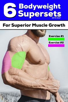 Supersets are amazing for fast workouts and muscle hypertrophy. Use these 6 bodyweight supersets for superior muscle growth and a speedy workout. Weight Lifting Workouts, Fast Workouts, Weight Loss Workout Plan, Weight Loss Challenge, 4 Week Workout Plan, Workout Plan For Men, Workout Plans, Bodyweight Strength Training, Muscle Hypertrophy