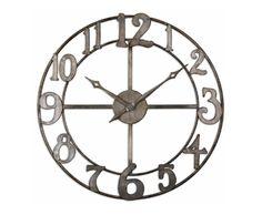 "Delevan 32 "" Metal Wall Clock | Buy Big Wall Clocks | Zin Home"