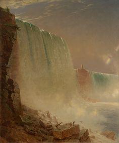 """Niagara Falls,"" John Ferguson Weir, oil on canvas, 42 x 35 Yale University Art Gallery. Fine Art Prints, Canvas Prints, Autumn Art, Modern Artists, Custom Art, American Artists, Art Reproductions, Niagara Falls, Art"