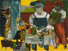 The+Family+(Around+the+Dining+Table)+-+Romare+Bearden