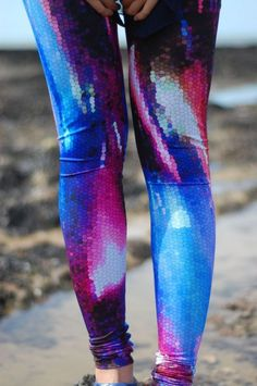 digitally printed tights by Michael Angel