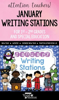 This multi-page January Writing Stations packet is the perfect addition to your Daily 5 stations. The themes included are: The New Year, Winter, Chinese New Year, and Martin Luther King Jr. Perfect writing station ideas for ESL, homeschool, special education, preschool, kindergarten, first grade, second grade and third grade. Click to download now. #firstgrade #secondgrade #kindergartenteacher #earlylearning #homeschool #specialeducation