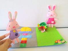 Felt Bunny Sewing PDF Pattern Easy DIY Craft Toy by EmaDecorations