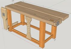 Split top roubo with homemade vises - Project Journals - Wood Talk Online Woodworking Bench Plans, Workbench Plans, Woodworking Projects, Workbench Designs, Home Workshop, Cottage Interiors, Sustainable Design, Interior Design Living Room, Wood Projects