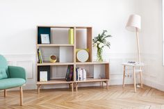 French brand HARTÔ has launched new products for 2016, including a sideboard, armchair, and shelving system, that have a simple, modern aesthetic.