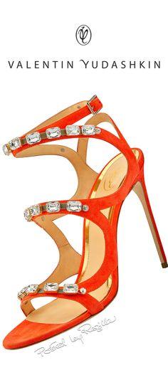 Regilla ⚜ Una Fiorentina in California Orange & Diamond Heels Red Shoes, Me Too Shoes, Shoes Heels, Orange Heels, Orange Sandals, Jaune Orange, Orange Fashion, Killer Heels, Kinds Of Shoes