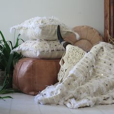 Moroccan Wedding blanket and pillows-Maison & Maison