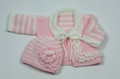 Baby girl sweater & hat by TheNanimalShop on Etsy