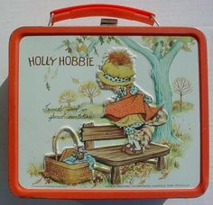 Holly Hobbie I had one similar to this but it was blue and had a matching thermos...I loved it, had the umbrella too!