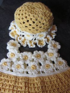 Handmade Baby Crochet Dress and  Hat set with by MagicalStrings, $49.00