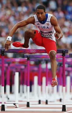 Orlando Ortega of Cuba competes in the Men's 110m Hurdles Semifinals