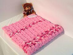 Soft and Fuzzy Crocheted Baby Blanket  by SleepyBabyBlankets