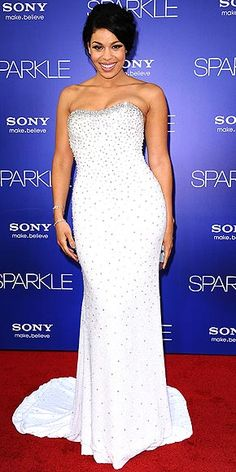 Jordin Sparks in a Chagoury Couture gown covered in more than 600 Swarovski crystals