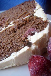 Strawberry Chocolate Layer Cake (GAPS-legal : primal : paleo)