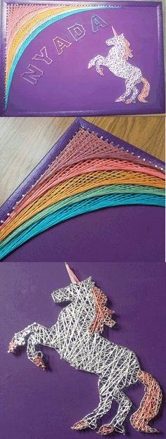 Unicorn String Art - By Randi Nentrup