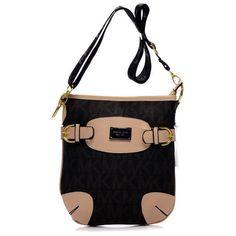 Michael Kors Outlet Fulton Logo Large Black Crossbody Bags| Michael Kors Outlet Online