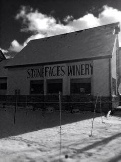#SDWine #StoneFacesWinery.  Beautiful snowy black and white.
