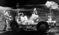 In December of 1972, Apollo 17 astronauts Eugene Cernan and Harrison Schmitt spent about 75 hours exploring the Moon's Taurus-Littrow valley while colleague Ronald Evans orbited overhead.