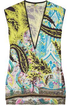 Etro Printed silk top NET-A-PORTER.COM