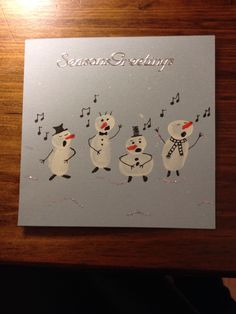 New Free of Charge Snowman painting card Concepts It can be challenging to fight… – Christmas DIY Holiday Cards Christmas Night, Christmas Crafts For Kids, Christmas Greeting Cards, Homemade Christmas, Christmas Snowman, Holiday Crafts, Christmas Gifts, Snowman Crafts, Router Wood