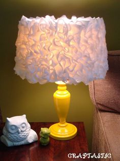 Ruffly Yellow Lamp!