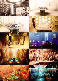 The TARDIS interior through the years. I love that the new one is tying back into the classic ones.