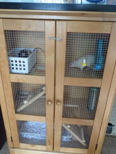 Our rat cage finished