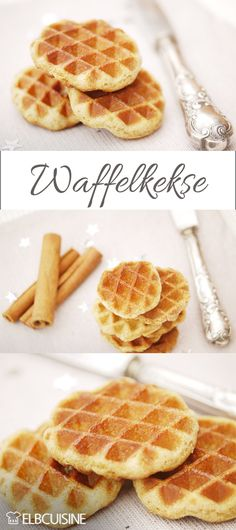 Zimt-Waffel-Kekse zu Weihnachten Crunchy cinnamon wafer biscuits have passed our taste test. Healthy Dessert Recipes, Health Desserts, Healthy Baking, Easy Desserts, Smoothie Recipes, Dessert Simple, Chip Cookie Recipe, Cookie Recipes, Waffle Biscuits