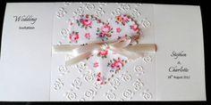 30 or 50 Embossed Personalised Wedding Invitations Cath Kidston Fabric Heart | eBay