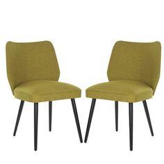 Sada 2 židlí Ethel, limetkové