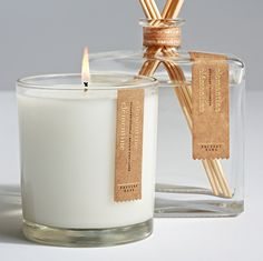 Pottery Barn Homescent Redesign — The Dieline - Branding Packaging Design Luxury Candles, Diy Candles, Scented Candles, Pillar Candles, Candle Jars, Diy Candle Labels, Homemade Candles, Candle Branding, Candle Packaging