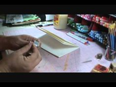 I am so happy  to have found this video. I love working with single sheets of watercolor and this is finally a way I can bind all those background sheets together into an art journal.    Art Journaling {journal binding}