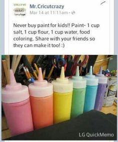 How to make paint for kids