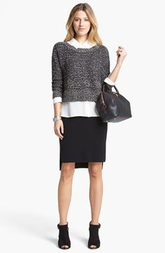 Eileen Fisher Sweater, Shirt & Skirt  available at #Nordstrom