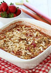 Strawberry Baked Oatmeal | FaveHealthyRecipes.com