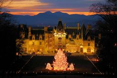 Biltmore House at Christmas time, December 2015 with Mom, Dad and Barbara