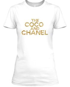The COCO And CHANEL Tee - White - Glitter (Gold) #WhiteGlitter