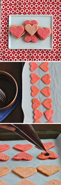 Heart Shaped Sandwich Cookies