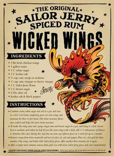 Sailor Jerry Rum Wings! cannot wait to try this!