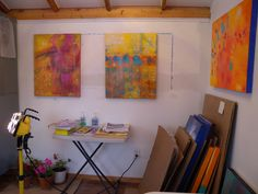 Studio My Happy Place, Studio, Room, Crafts, Painting, Art, Style, Painting Art, Rooms