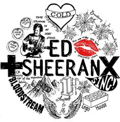$18 Image of ED SHEERAN '+' and 'x' LYRIC TEE