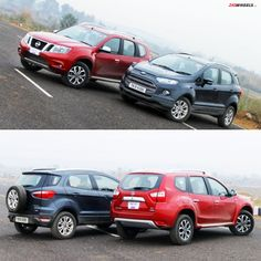 Looking for the best diesel compact SUV? Here is a neck-to-neck comparison on two most wanted cars-the #FordEcoSport and #NissanTerrano. Read which car wins on ZigWheels.com