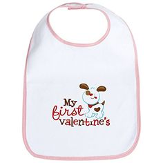 CafePress  1st Valentines Day Puppy Bib  Cute Cloth Baby Bib Toddler Bib ** Visit the image link more details.