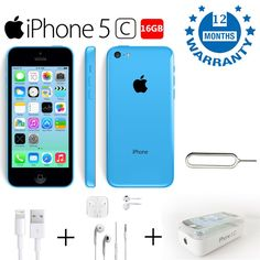 Buy cheap Apple #iPhone 5c 16GB Blue Sim-free Unlock Factory Refurbished like Brand New #smartphone #uk  Shop here: 👉http://bit.ly/2rQ0leu