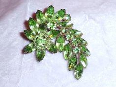 Juliana Brooch  D Refreshing Spring Green  by bodaciousjewels, $75.00