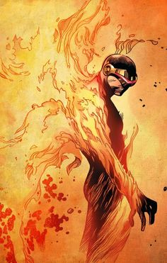 Cyclops, I'm wondering if this is symbolizing the effect The Pheonix had on him....