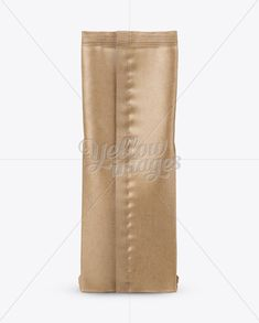 Kraft Paper Coffee Bag Mockup - Back View
