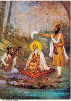 Guru Nanak Dev Ji with his companions |  Sikhpoint.com